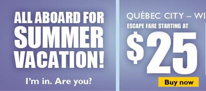 Escape fare starting at $25