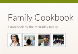 Family Cookbook Notebook